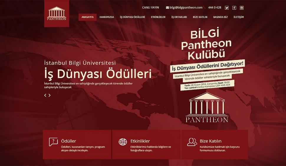 Pantheon Kontrol Panelli Web Sitesi - Web Tasarımı