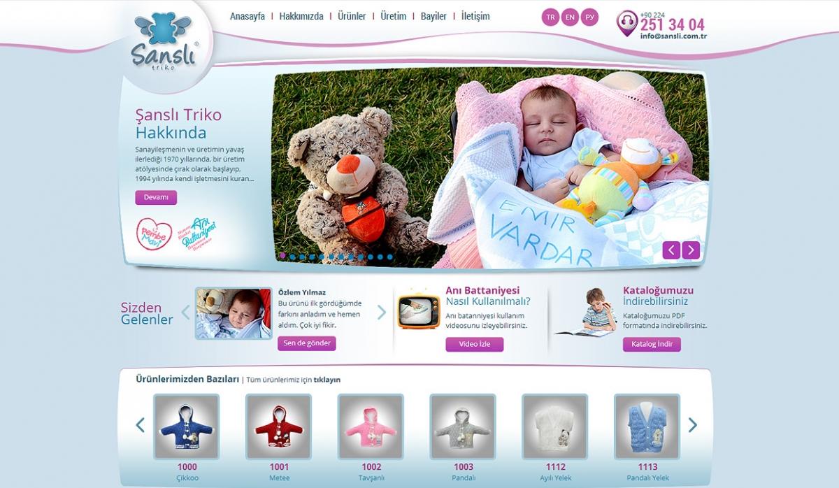 Şanslı Triko Website With Admin Panel - Web Design