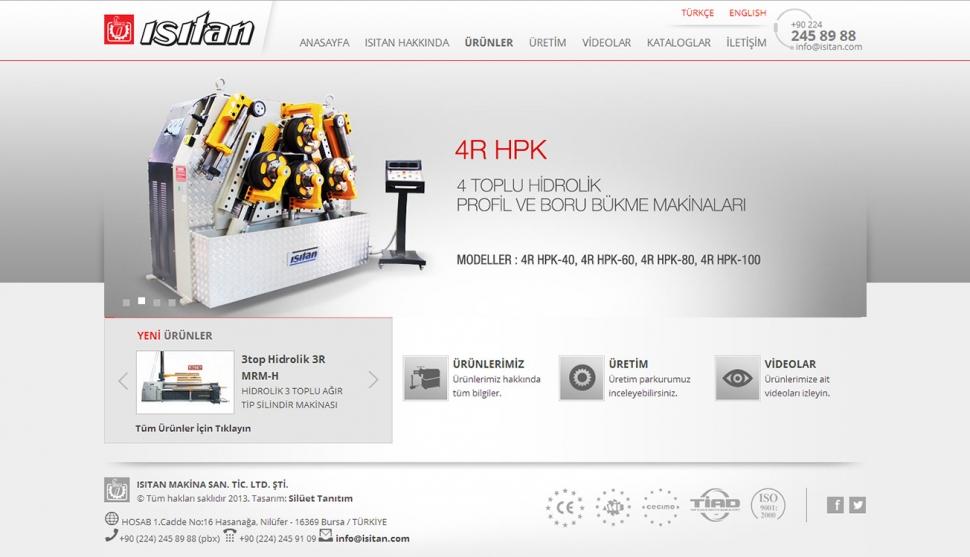 Isıtan Makina Kontrol Panelli Web Sitesi - Web Tasarımı