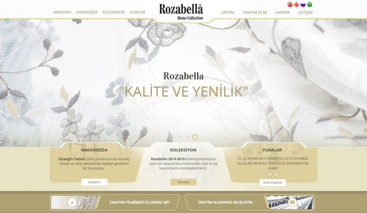 Rozabella Tekstil Website With Admin Panel - Web Design