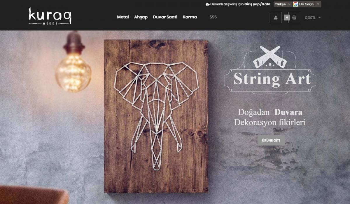 Kuraq Works E-Commerce Site - Web Design