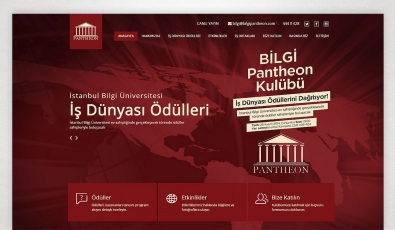 Pantheon Website with Admin Panel - Web Tasarımı