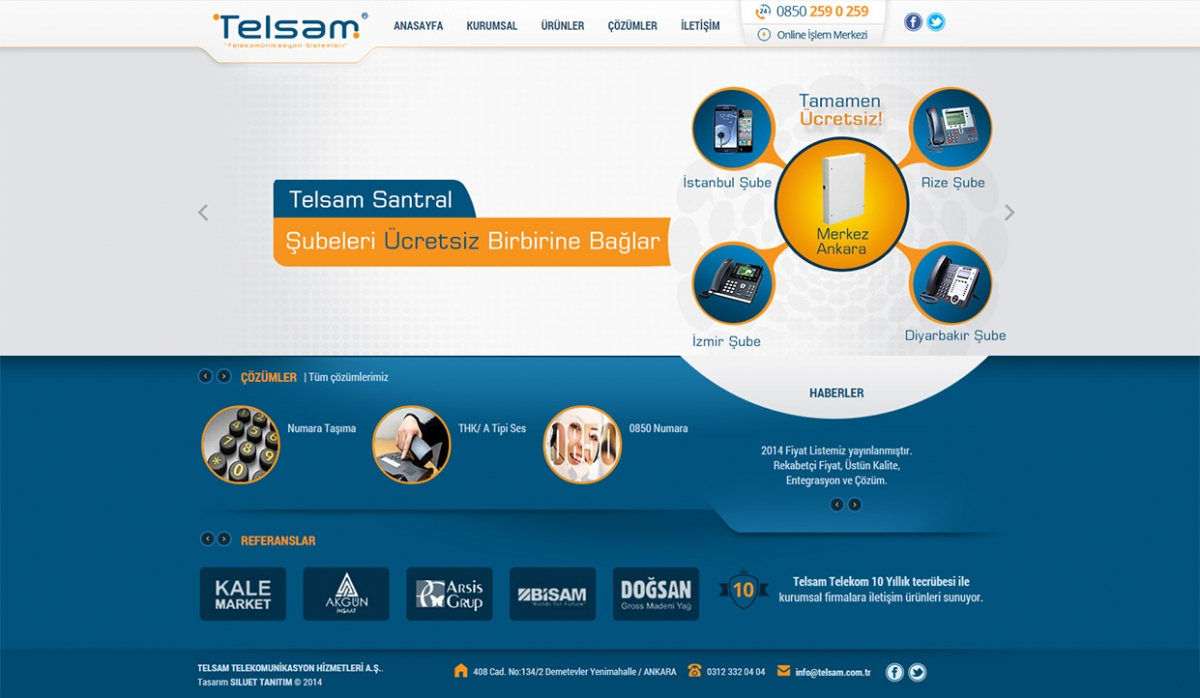 Telsam Telekomunikasyon Website With Admin Panel - Web Design