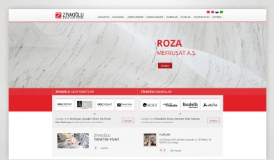 Ziyaoğlu Tekstil Kontrol Panelli Web Sitesi - Web Tasarımı