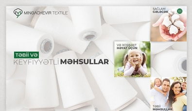Mingachevir Textile Corporate Website - Web Tasarımı