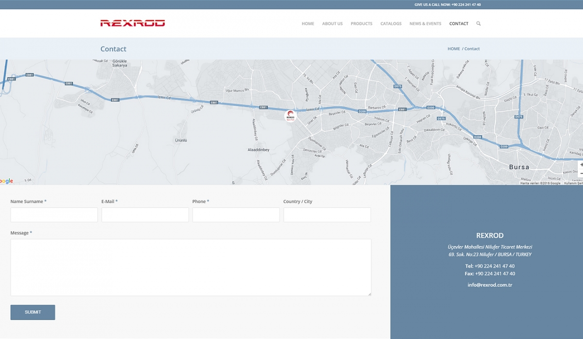 Rexrod Spare Parts Website with Control Panel - Web Design