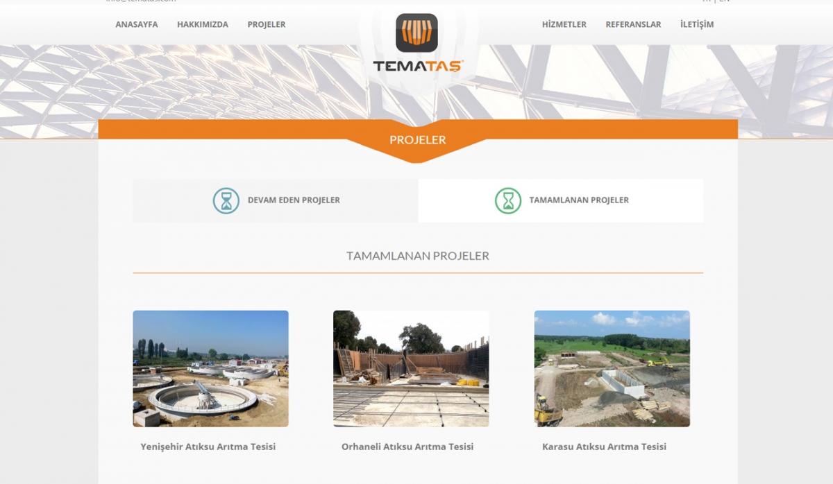 Temataş İnşaat Endüstri Website With Admin Panel - Web Design