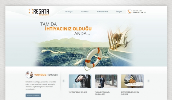 Regata Danışmanlık Static Website - Web Design