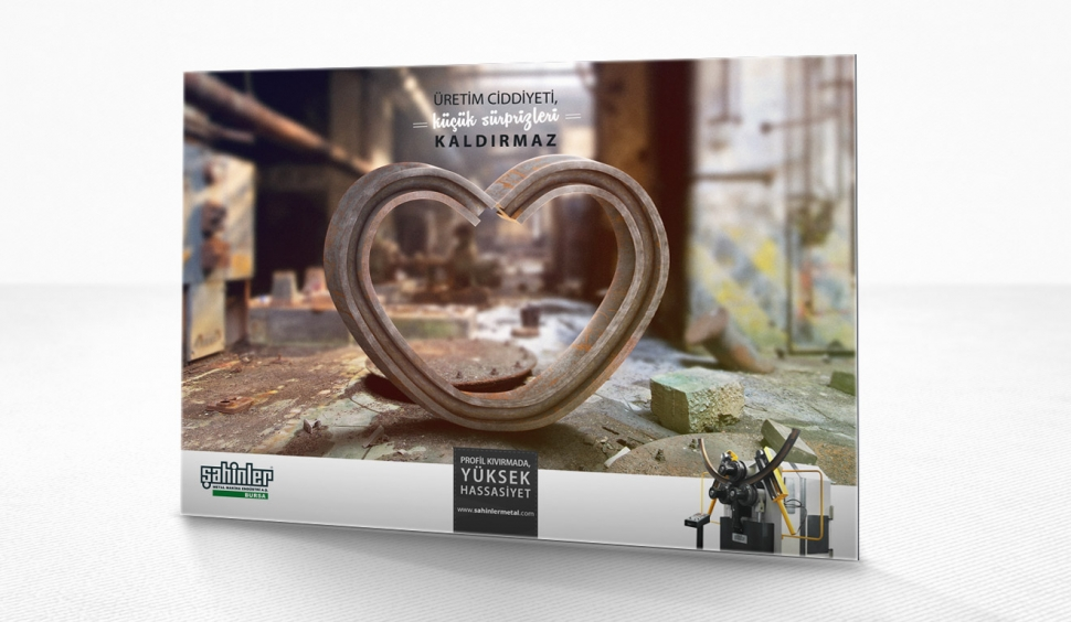 Şahinler Metal İmaj Reklam Kampanyası - Hassasiyet - Grafik Tasarım
