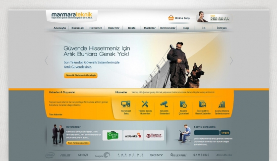 Marmara Teknik Static Website - Web Design