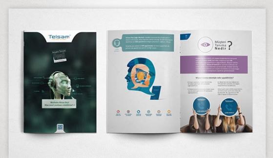 Telsam Telekomunikasyon Broşür Tasarımı - Grafik Tasarım