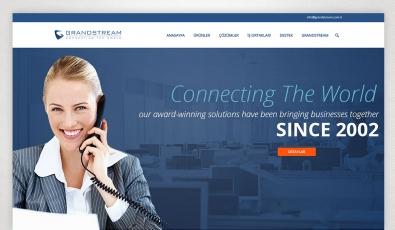 Grandstream Türkiye Kontrol Panelli Web Sitesi - Web Tasarımı
