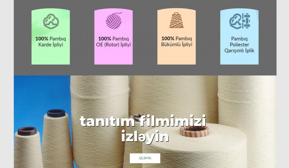 Mingachevir Textile Kurumsal Web Sitesi - Web Tasarımı