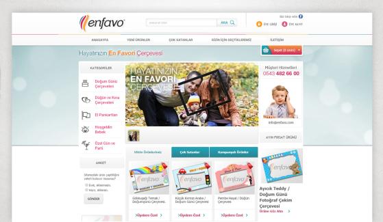 Enfavo E-Ticaret Sitesi - Web Tasarımı