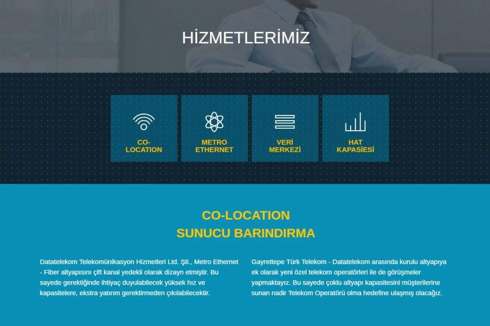 Data Telekom Hosting Web Sitesi - Web Tasarımı