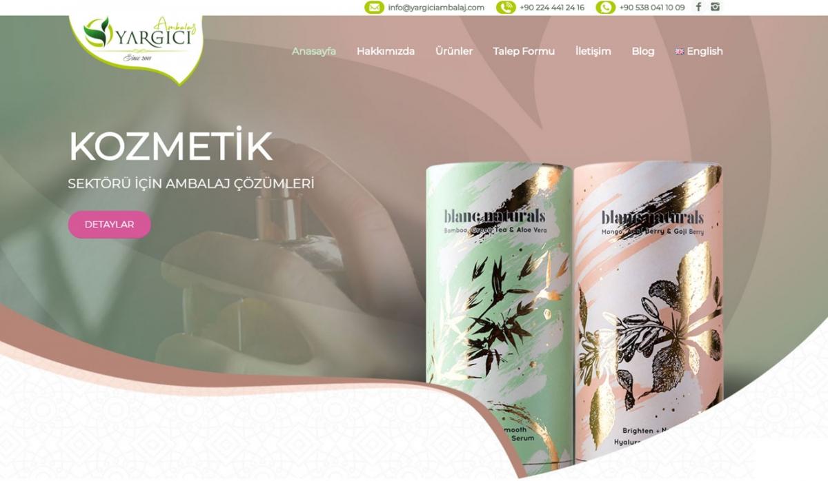 Yargıcı Ambalaj Corporate Website - Web Design