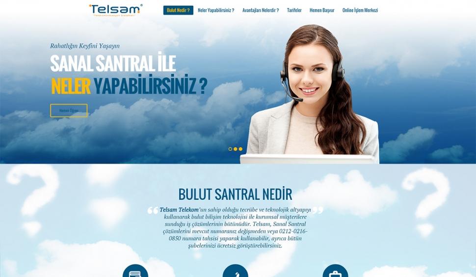 Telsam Bulut Statik Web Sitesi - Web Tasarımı