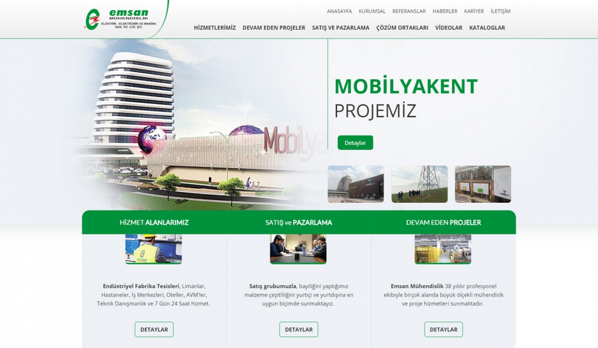 Emsan Mühendislik Website With Admin Panel - Web Design