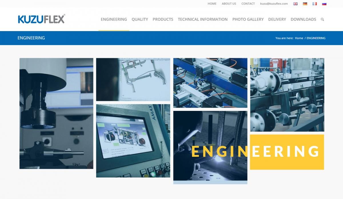 Kuzuflex Metal Hose Website Design - Web Design