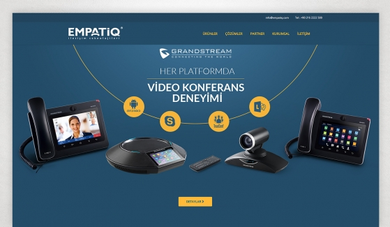 Empatiq Telekom Website with Control Panel - Web Design