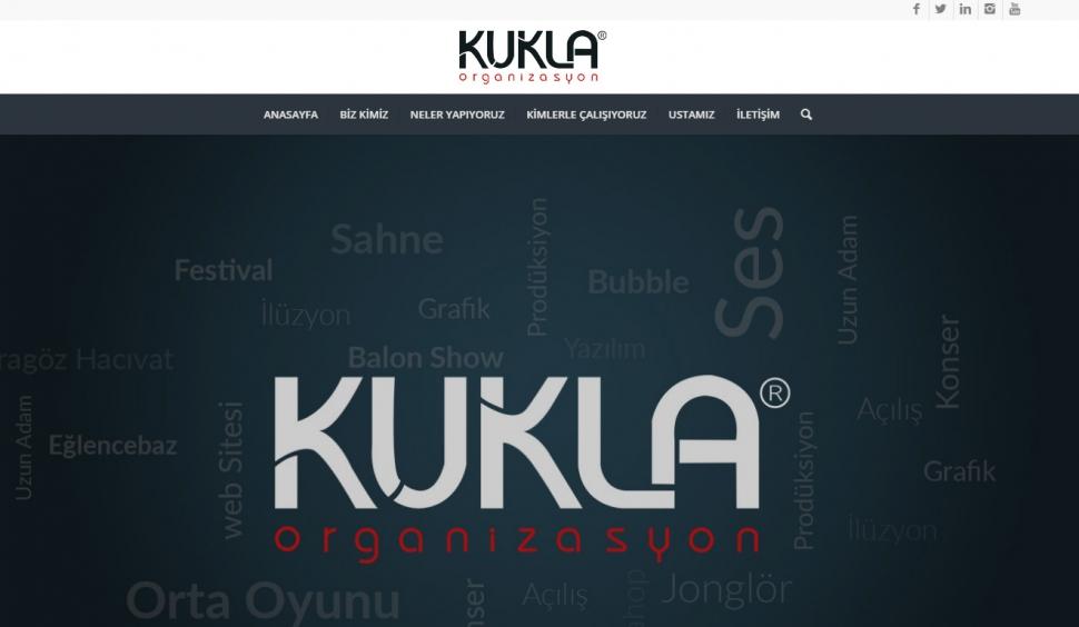 Kukla Organizasyon Kontrol Panelli Web Sitesi - Web Tasarımı