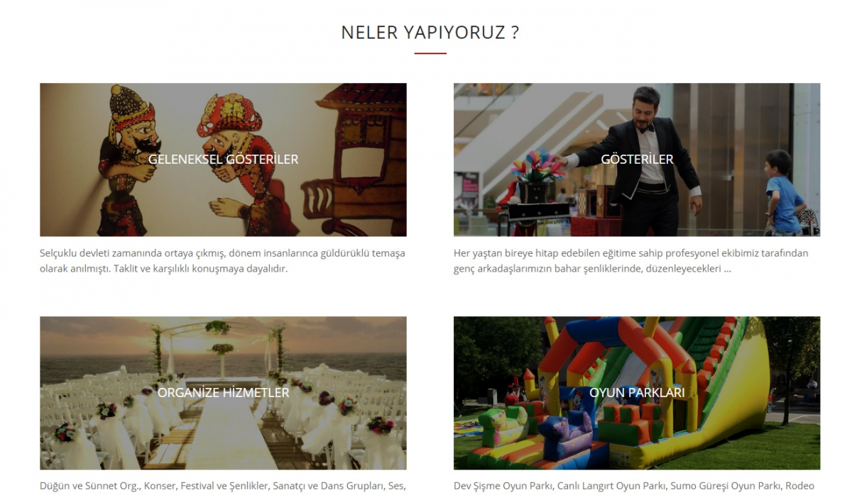 Kukla Organizasyon Website with Control Panel - Web Design