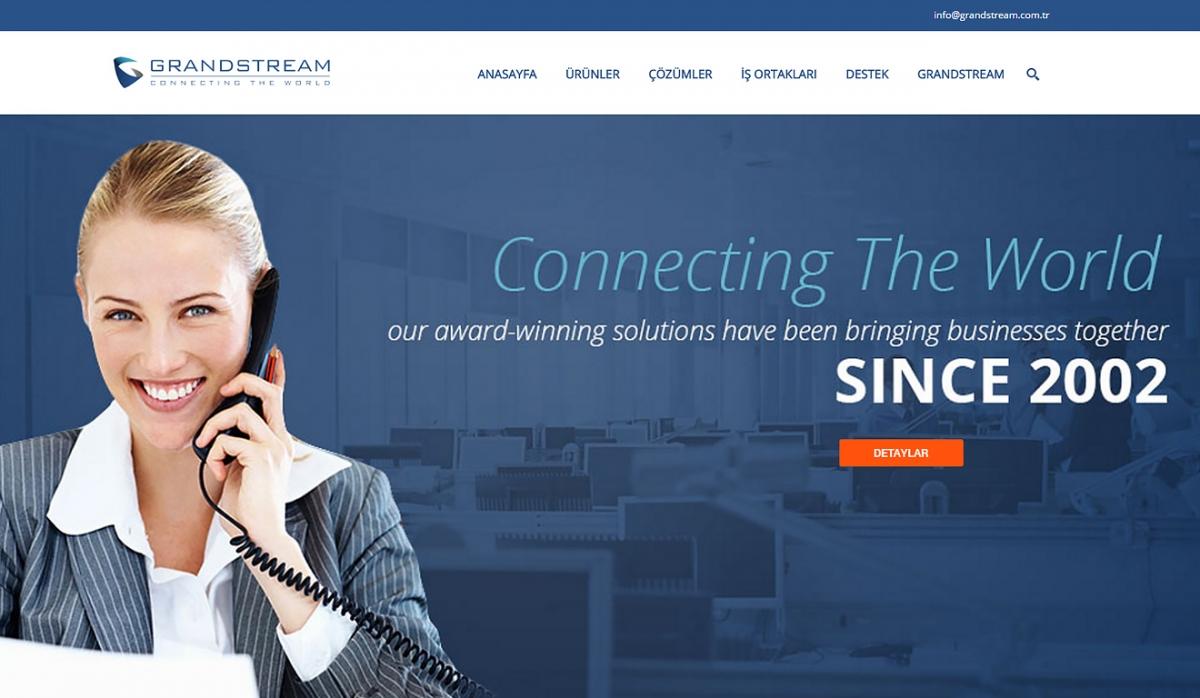Grandstream Türkiye Website with Control Panel - Web Design