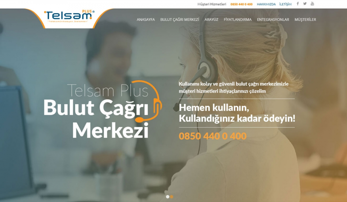 Telsam Plus Corporate Website - Web Design