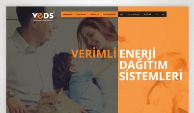 Veds Enerji Dağıtım Sistemleri Kontrol Panelli Web Sitesi - Web Tasarımı