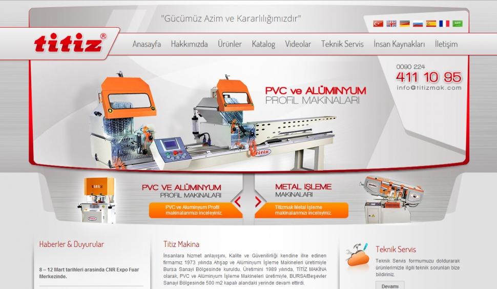 Titiz Makina Statik Web Sitesi - Web Tasarımı