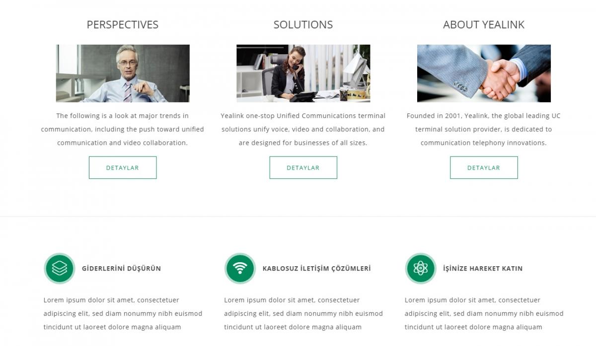 Yealink Türkiye Website with Control Panel - Web Design