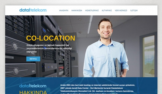 Data Telekom Hosting Website - Web Design