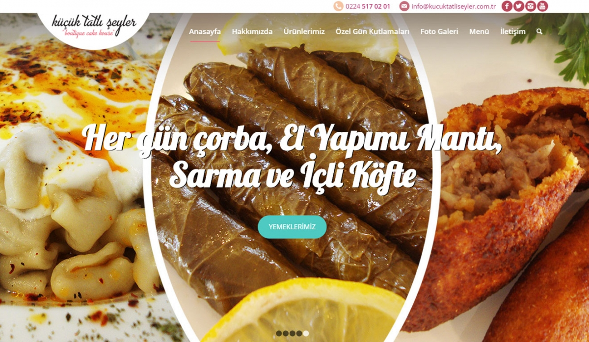 Küçük Tatlı Şeyler Corporate Website - Web Design