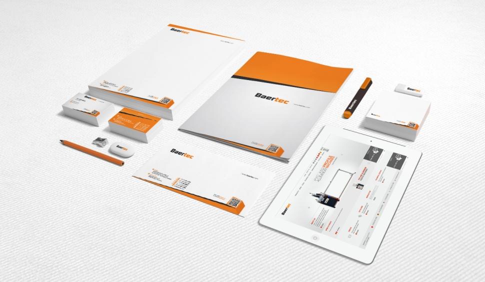 Baertec Makine Kurumsal Kimlik Çalışması - Grafik Tasarım