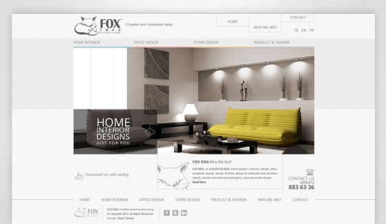 Fox Idea Static Website - Web Design