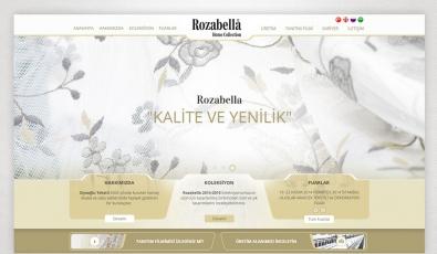 Rozabella Tekstil Kontrol Panelli Web Sitesi - Web Tasarımı