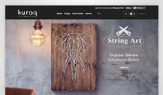 Kuraq Works E-Ticaret Sitesi - Web Tasarımı
