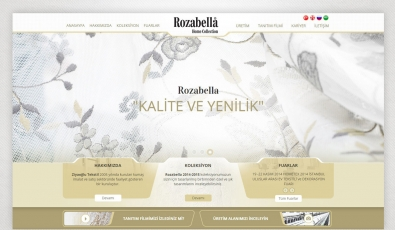 Rozabella Tekstil Website With Admin Panel - Web Tasarımı