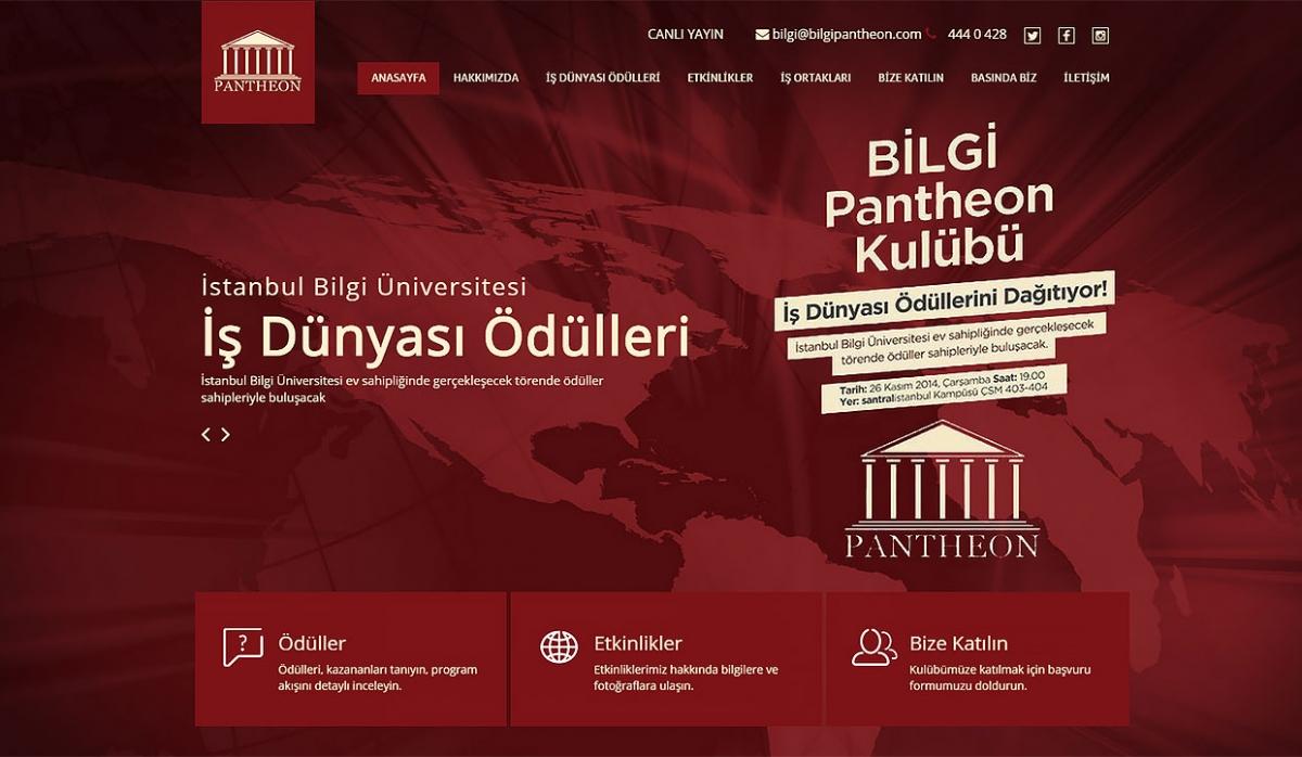Pantheon Website with Admin Panel - Web Design
