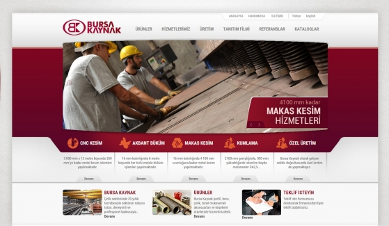Bursa Kaynak Static Website - Web Design