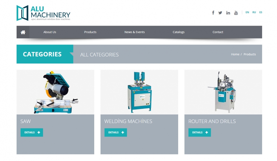 Alu Machinery Kontrol Panelli Web Sitesi - Web Tasarımı