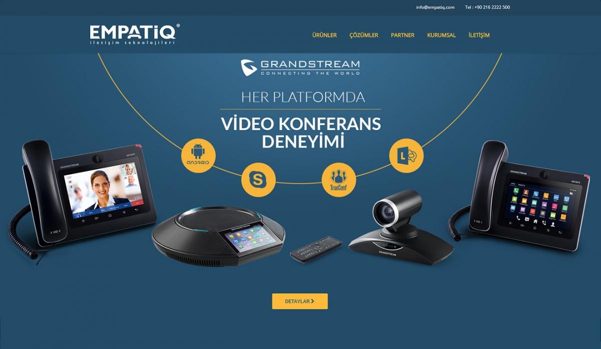 Empatiq Telekom Website with Control Panel - Web Design