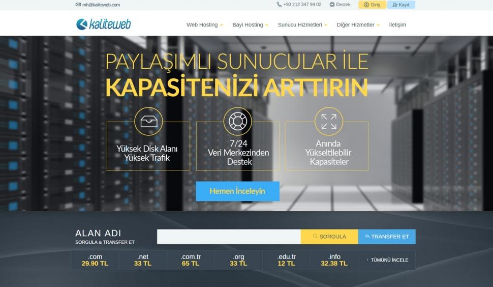 KaliteWeb KaliteWeb Hosting Sitesi - Web Tasarımı