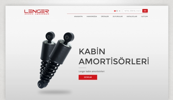 Lenger Otomotiv Kontrol Panelli Web Sitesi - Web Tasarımı