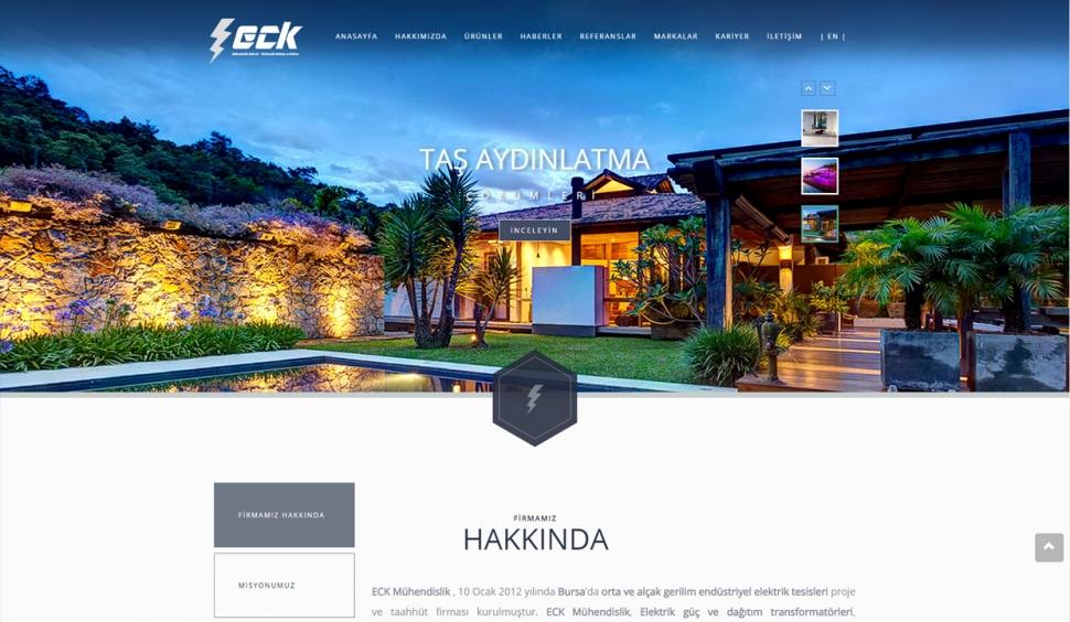 ECK Mühendislik Kontrol Panelli Web Sitesi - Web Tasarımı
